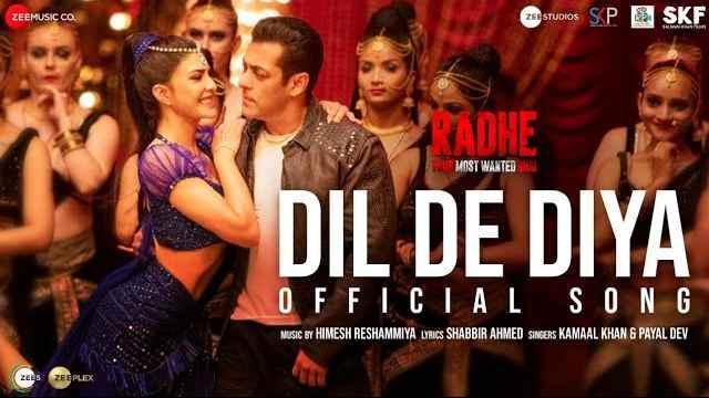 DIL DE DIYA LYRICS - Radhe | Salman Khan